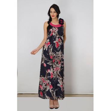 Pregnant Rose Collar Siphon Dress