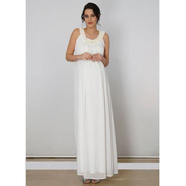 Pregnant Collar Bead Siphon Dress