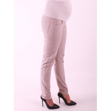 Maternity Clothes Slim Fit Narrow Legs Cotton Trousers