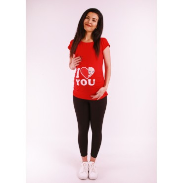 Maternity Clothes I Love You T-Shirt Short Sleeve