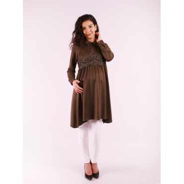 Pregnant Clothing Suede Sweep Tunik