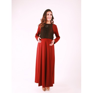 Pregnant Leather File Dress