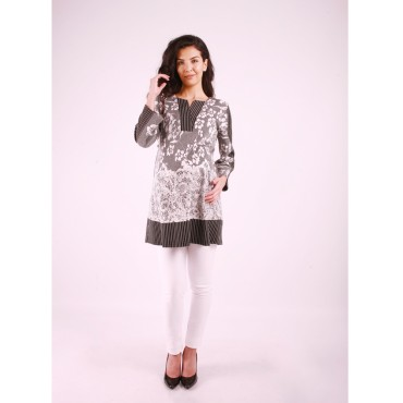 Pregnant Clothing Embossed Rose Pattern Tunic