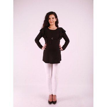 Maternity Clothes Ponpon Merserize Blouse