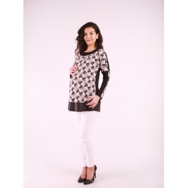 Maternity Wear Shoulder Button Sports Blouse
