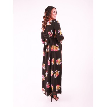 Pregnant Demet Flower Chiffon Dress