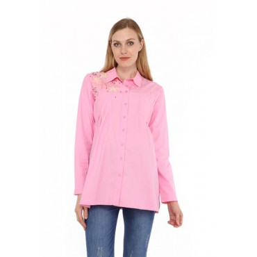 Pregnant Pearl Star Cotton Shirt