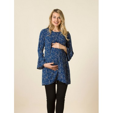 Pregnant Crispy Flower Flywheel Arm Tunic