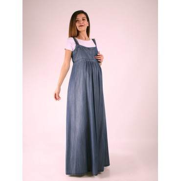 Leather Hanging Tencel Pregnant Dress
