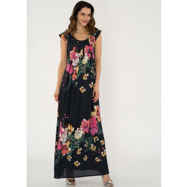 Maternity Clothes Orchid Flower Jile Dress