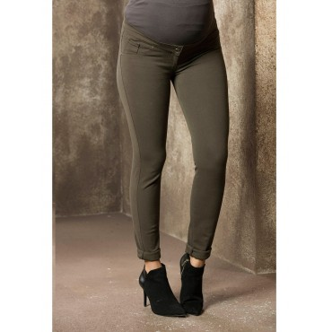 Slim Fit Narrow Leg Cotton Maternity Pants