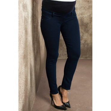 maternity wear double side pockets narrow-leg jeans