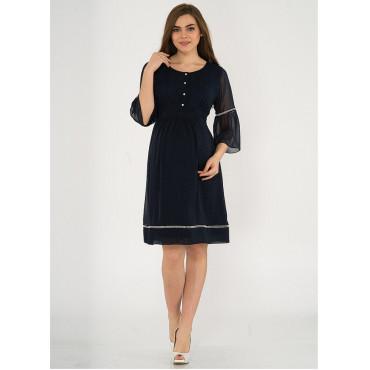 Half Sleeve Mini Point Dress
