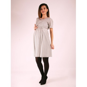 Pregnant Prism Cotton Dress