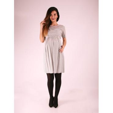 Pregnant Prism Cotton Dress