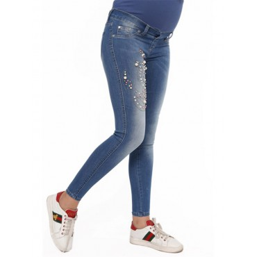 Pregnant Pearl Slim Fit Jeans Pants