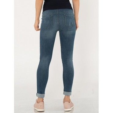 Maternity Clothes Untouchable Narrow Racer Jeans Pants