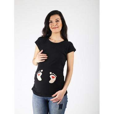 Pregnant Heart Shape T-Shirt