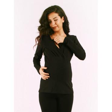 Pregnant Breastfeeding Cotton U-Sleeve T-Shirt