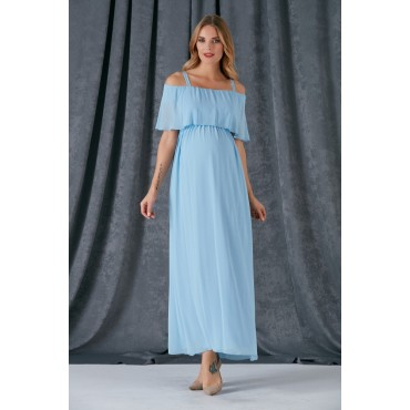 Hanging Bolero Chiffon Maternity Dress