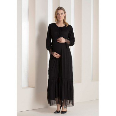 Tulle Maxi Dress with Maternity Points