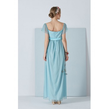 Pregnant Tulle Maternity Evening Dress Maxi Dress