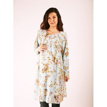 Top Pile Floral Chiffon Tunic