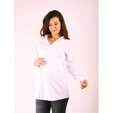 Maternity Clothing Smock Coton Office Shirt