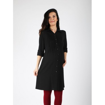 Maternity Crepe Shirt Tunic