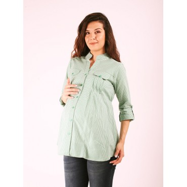 Flota Pocket Mini Square Maternity Shirt