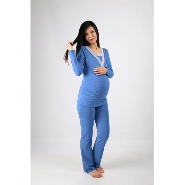 Pregnant Cotton Double Breasted Pajamas