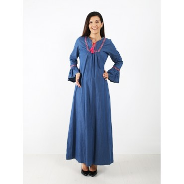 Maternity Jeans Maxi Dress