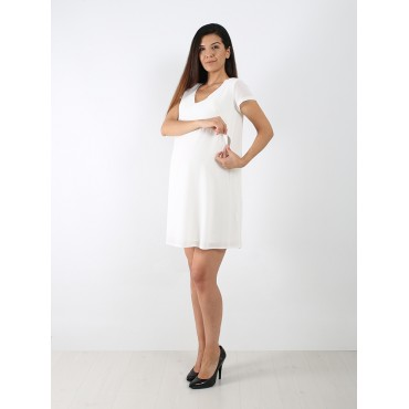 Back Pile Mini Breastfeeding Maternity Dress