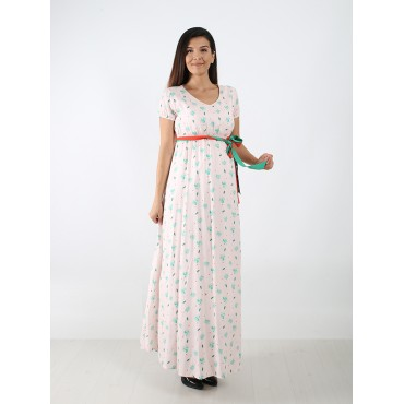 Original Plant Cotton Maternity Maxi Dress