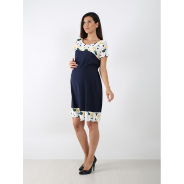 Broken Pattern Combined Breastfeeding Maternity Dress