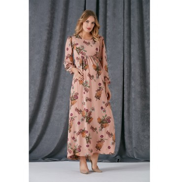 Pregnant Carnation Prism Long Dress