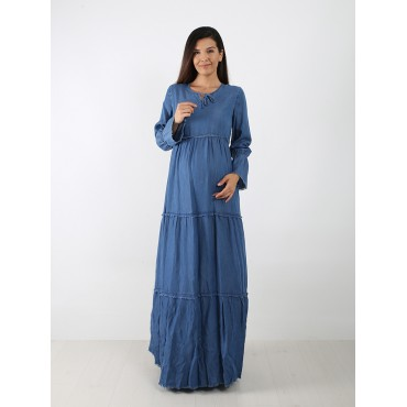 Tencel Maternity Maxi Maternity Dress
