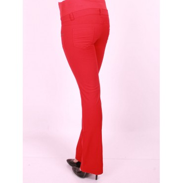 maternity wear flared cotton trousers