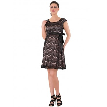 Stone Guipure Pregnant Evening Dress