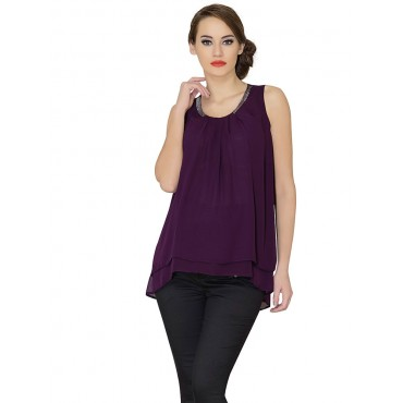 Sterling asymmetrical chiffon evening dresses maternity wear blouses