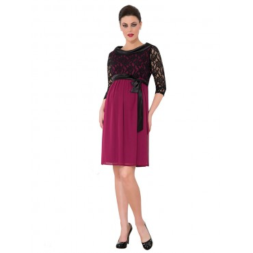 maternity wear dresses evening ruched satin collar