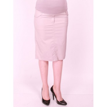 Maternity Cotton Pencil Skirt