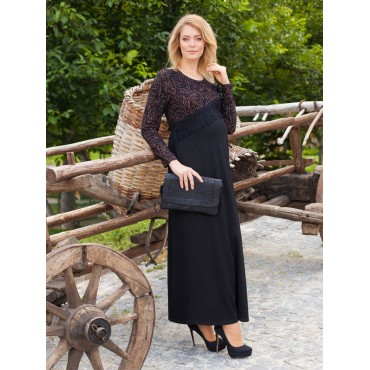 maternity wear now tassels long dress