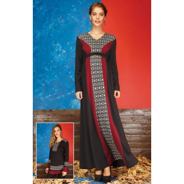 Pregnant geometric motif Long Dress