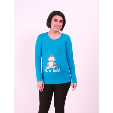 Pregnant Its A Boy Long Sleeve Humorous T-shirt