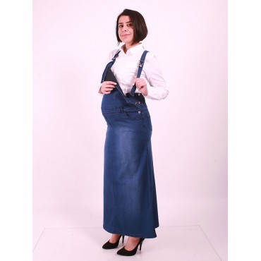 Pregnant Bahcivan Long Jeans Dress