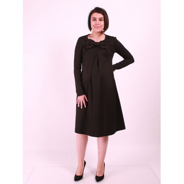 Great Bow Long Sleeve Maternity Dresses