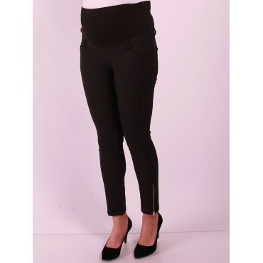 Maternity Clothing Power Stretch Zipper Paca Pants