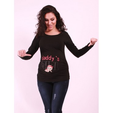 maternity wear girl's father comes to witty t-shirts
