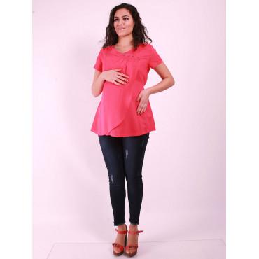 Mini Pile Button Pregnant Blouse